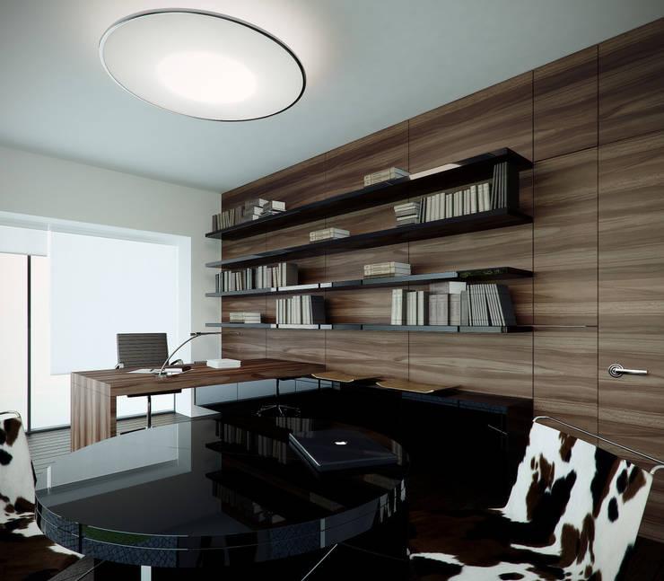 Gabinet: styl , w kategorii Domowe biuro i gabinet zaprojektowany przez KODO projekty i realizacje wnętrz