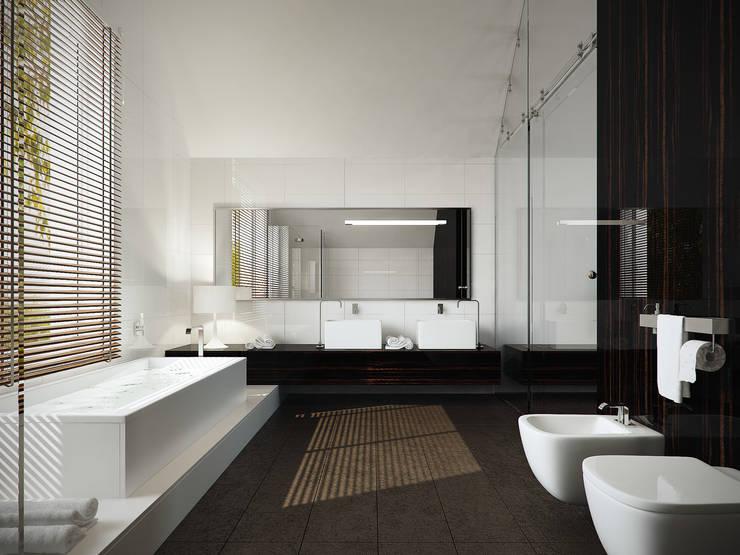 Łazienka na poddaszu: styl , w kategorii Łazienka zaprojektowany przez KODO projekty i realizacje wnętrz