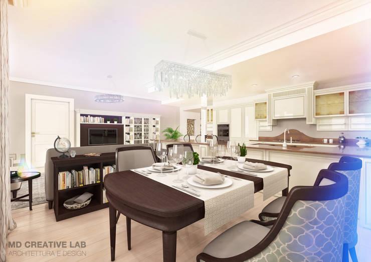Dining area: Sala da pranzo in stile in stile Classico di MD Creative Lab - Architettura & Design