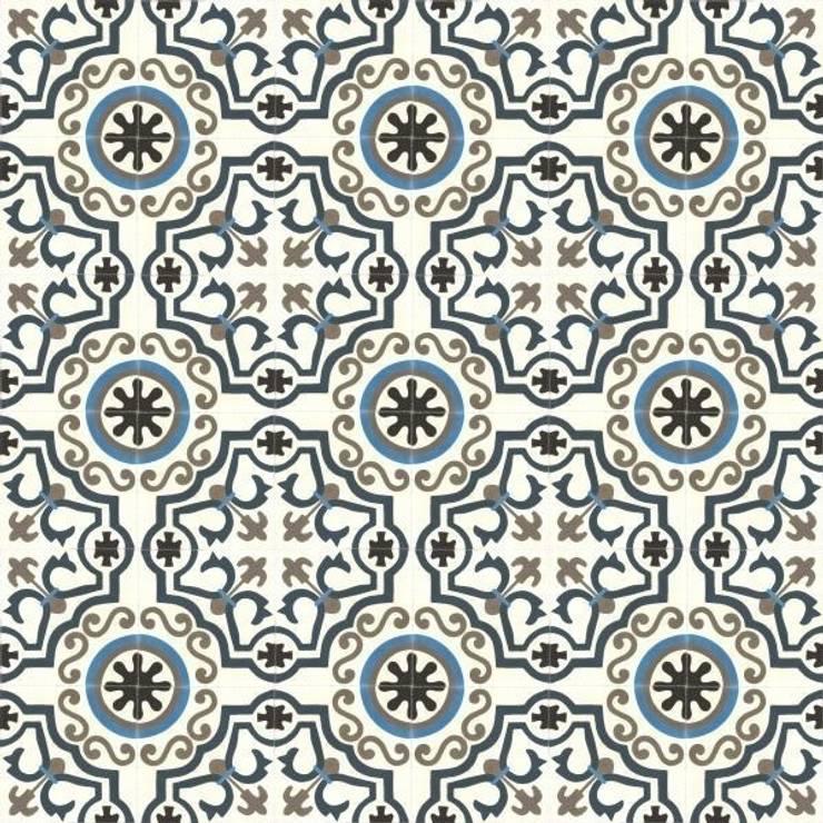 NAVAS – cementowe płytki podłogowe: styl , w kategorii  zaprojektowany przez Kolory Maroka,Śródziemnomorski