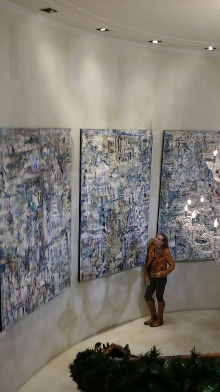 Murales: Paredes y pisos de estilo  por Victoria Goren Arte Contemporaneo