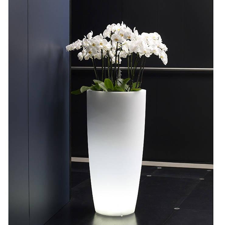 Donice podświetlane TALOS: styl , w kategorii Salon zaprojektowany przez Hydroponika - Wnętrz i zieleń