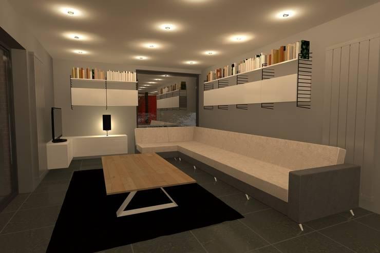 AMENAGEMENT INTERIEUR #009: Salon de style  par HOME LAB'