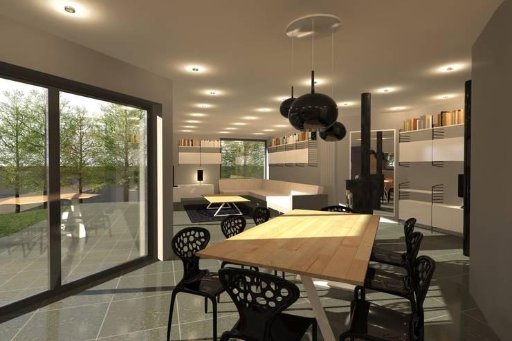 AMENAGEMENT INTERIEUR #009: Salle à manger de style  par HOME LAB'