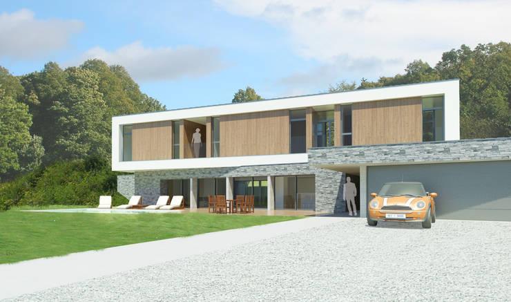 Vue depuis l'entrée. :  de style  par 3B Architecture