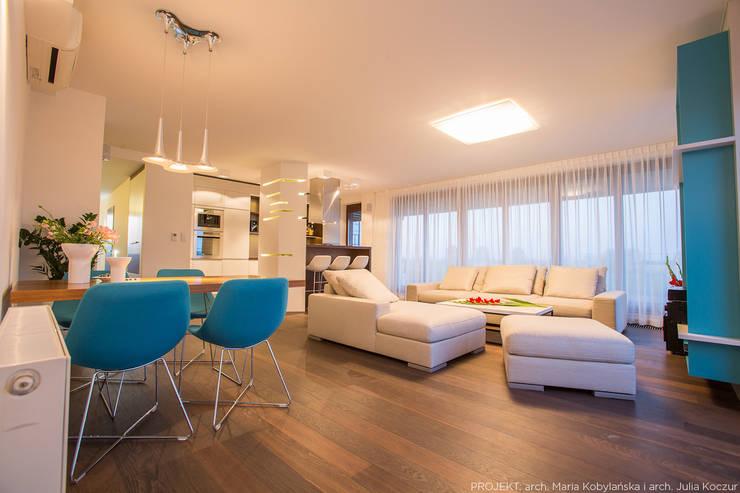 Realizacja: styl , w kategorii Salon zaprojektowany przez LEMUR Architekci