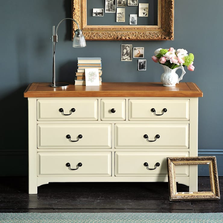 Westbury Painted 3+4 Drawer Chest:  Living room by The Cotswold Company