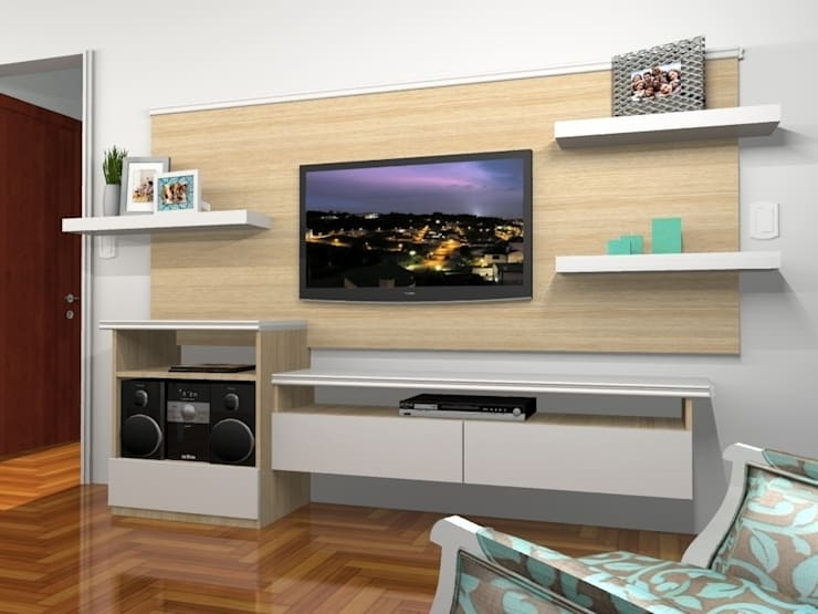 Render 3D - Sector 2: Livings de estilo  por Muebles del angel