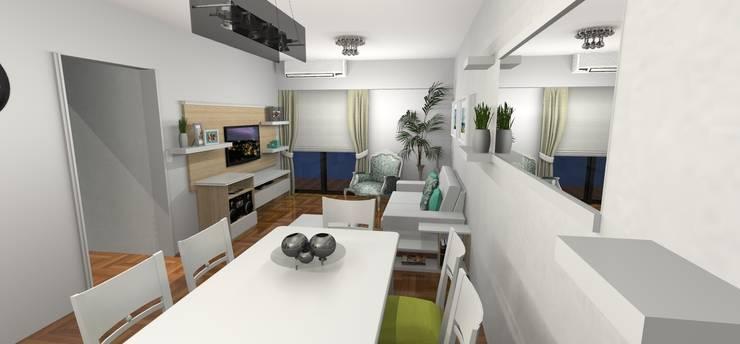 Render 3D - Entrada: Livings de estilo moderno por Muebles del angel