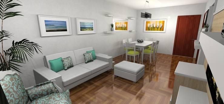 Render 3D - Salida: Livings de estilo moderno por Muebles del angel