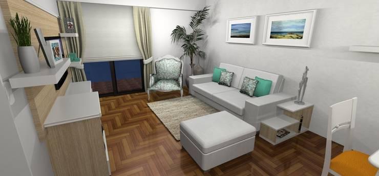 Render 3D - Sector 1: Livings de estilo  por Muebles del angel
