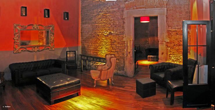 Alameda 402: Salones para eventos de estilo  por Taller Habitat Arquitectos