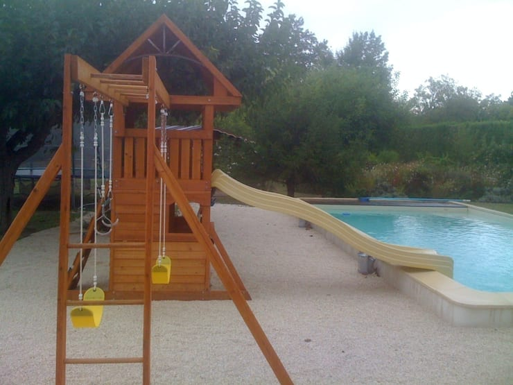 Pool Side Climbing Frame: classic Garden by Selwood Products Ltd