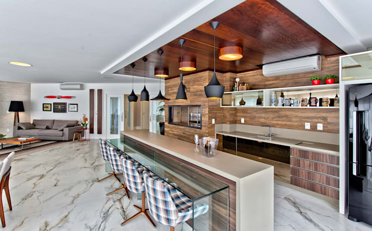 Cocinas de estilo  por Espaço do Traço arquitetura