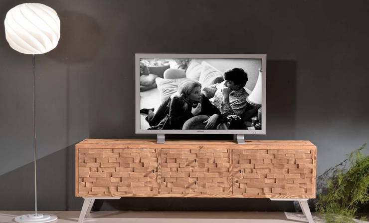 Base TV L185 P47 H60: Soggiorno in stile in stile Moderno di Chimento Design