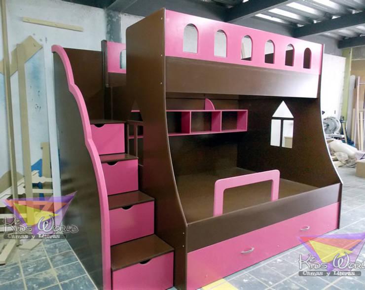 Litera juvenil chocolate con fresa: Recámaras de estilo moderno por camas y literas infantiles kids world