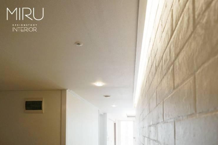 모던하고 깔끔한 아파트인테리어: 미루디자인의
