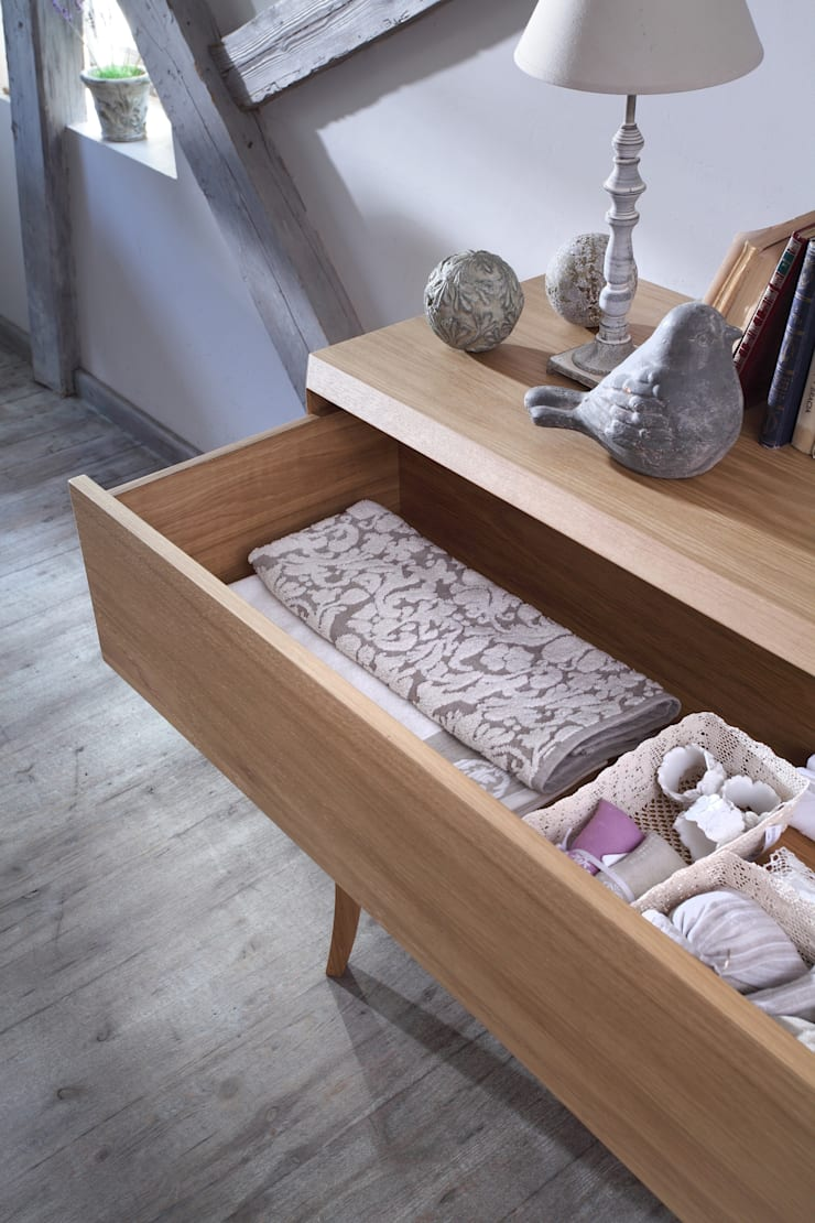 komoda Dream dąb natur: styl , w kategorii Sypialnia zaprojektowany przez Swarzędz Home ,