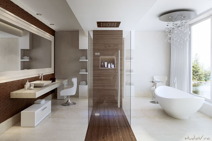 modern Bathroom by studioviro
