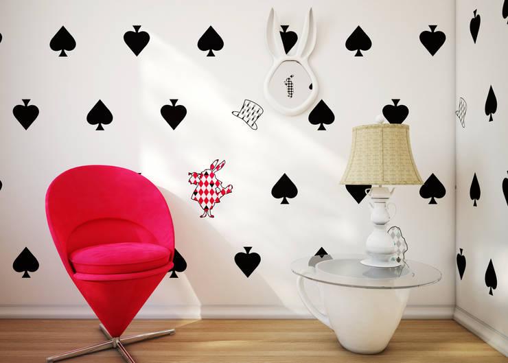 Tapeta Alice: styl , w kategorii Pokój dziecięcy zaprojektowany przez Humpty Dumpty Room Decoration