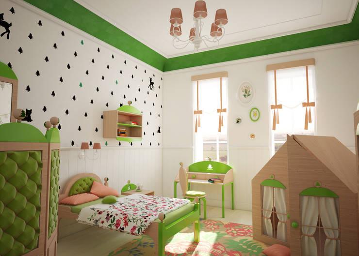 Tapeta ścienna Bambimini: styl , w kategorii Pokój dziecięcy zaprojektowany przez Humpty Dumpty Room Decoration