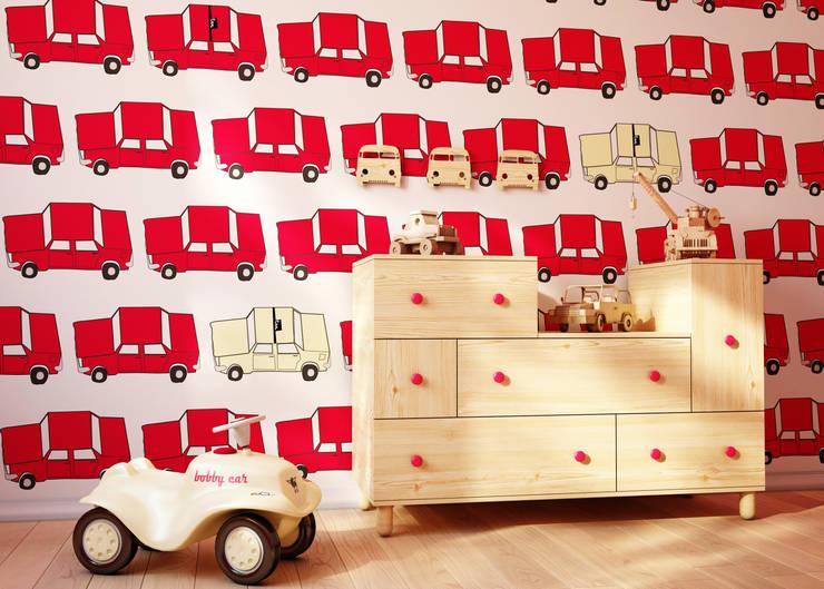 Tapeta dla dzieci Fiat 125 p: styl , w kategorii Ściany i podłogi zaprojektowany przez Humpty Dumpty Room Decoration