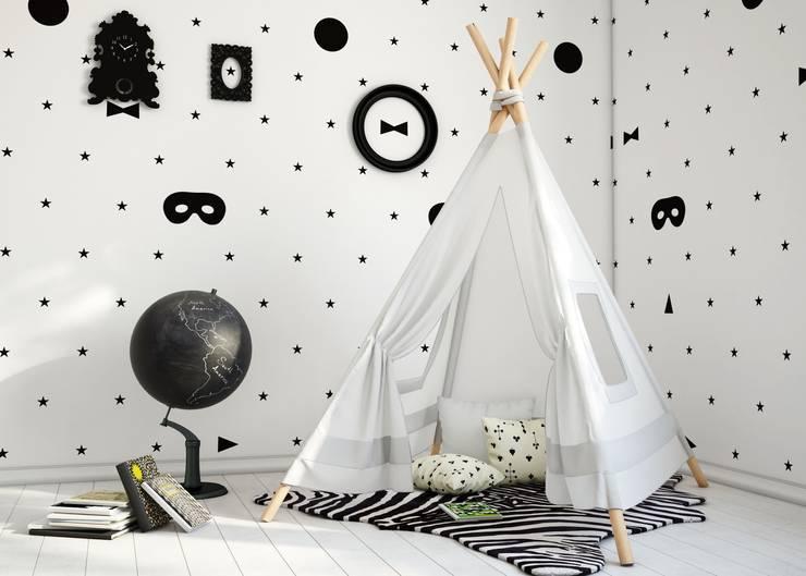Tapeta Masks: styl , w kategorii Ściany i podłogi zaprojektowany przez Humpty Dumpty Room Decoration