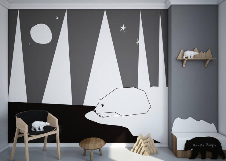Tapeta Mural Polar Bear: styl , w kategorii Ściany i podłogi zaprojektowany przez Humpty Dumpty Room Decoration