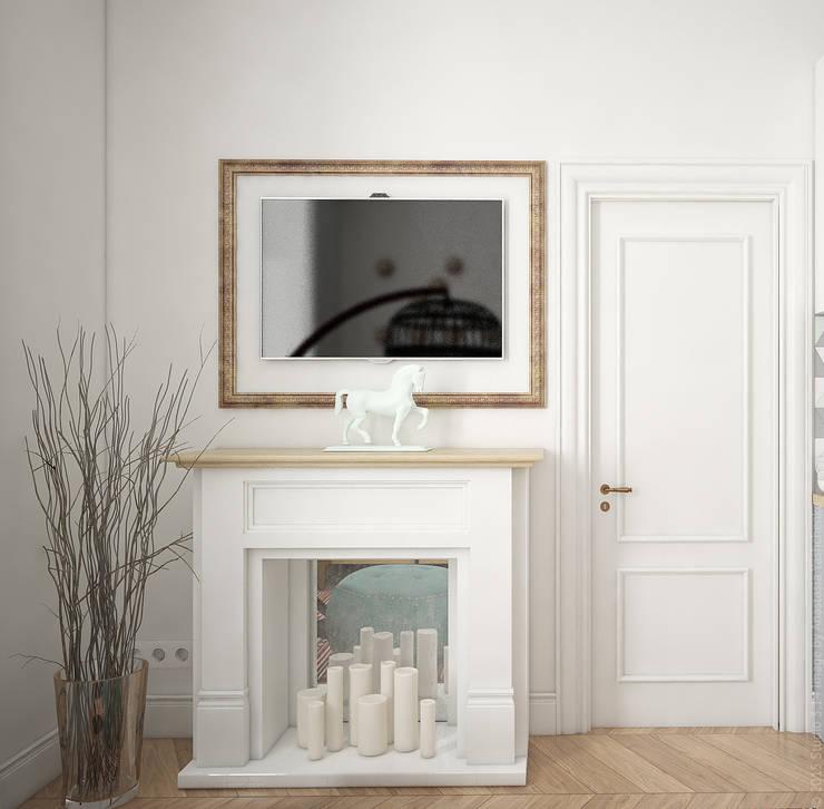 Гостиная в квартире на Ленинском проспекте: Гостиная в . Автор – «Студия 3.14»