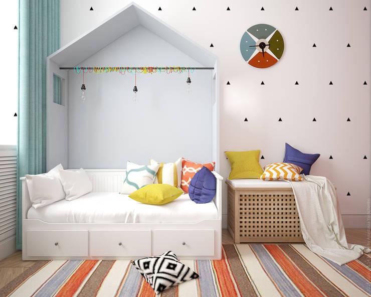 Детская в квартире на Ленинском проспекте: Детские комнаты в . Автор – «Студия 3.14»