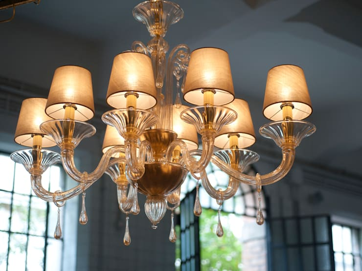 Lampadario Rosa Cristallo : Lampadario in vetro di murano lampadario moderno in vetro con