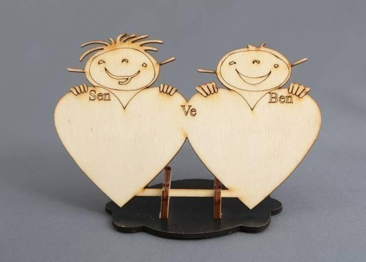 Dilek Hediyelik – Sen  ve Ben kalpli ahşap:  tarz İç Dekorasyon