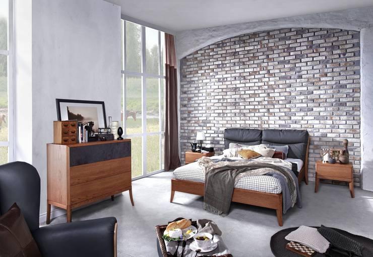 Sypialnia Dream Pure - dąb amber: styl , w kategorii Sypialnia zaprojektowany przez Swarzędz Home