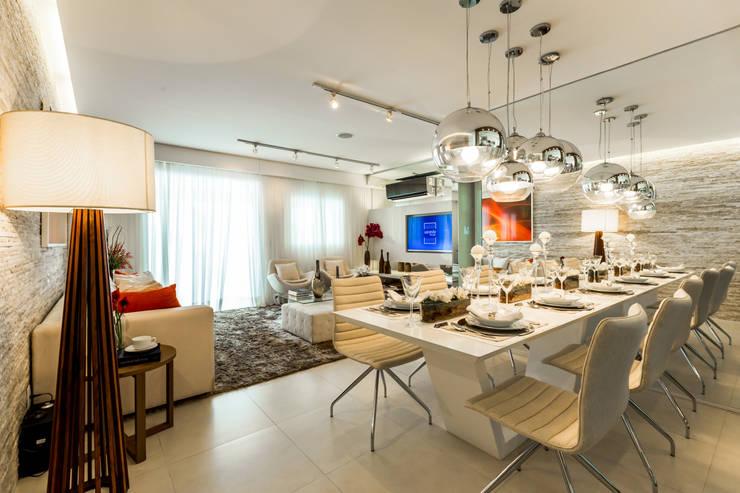Comedores de estilo  por Chris Silveira & Arquitetos Associados