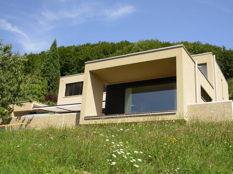 EFH Neubau bei Aarau: moderne Häuser von wernli architektur ag