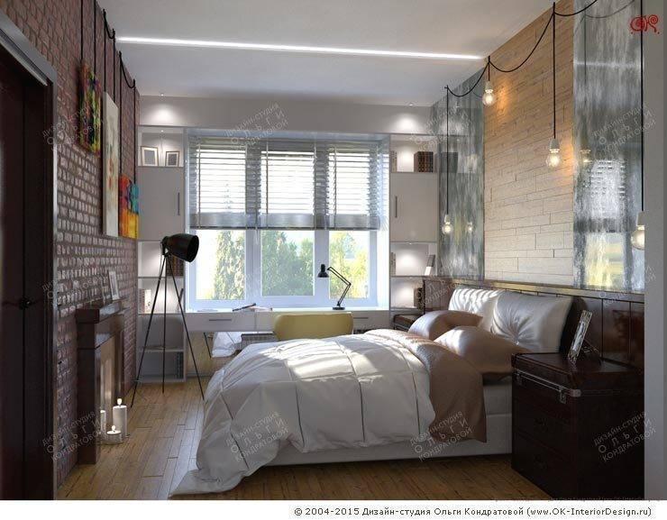 Дизайн 4-комнатной квартиры с элементами лофта: Спальни в . Автор – Дизайн студия Ольги Кондратовой