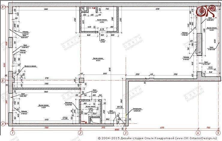Дизайн 4-комнатной квартиры с элементами лофта:  в . Автор – Дизайн студия Ольги Кондратовой