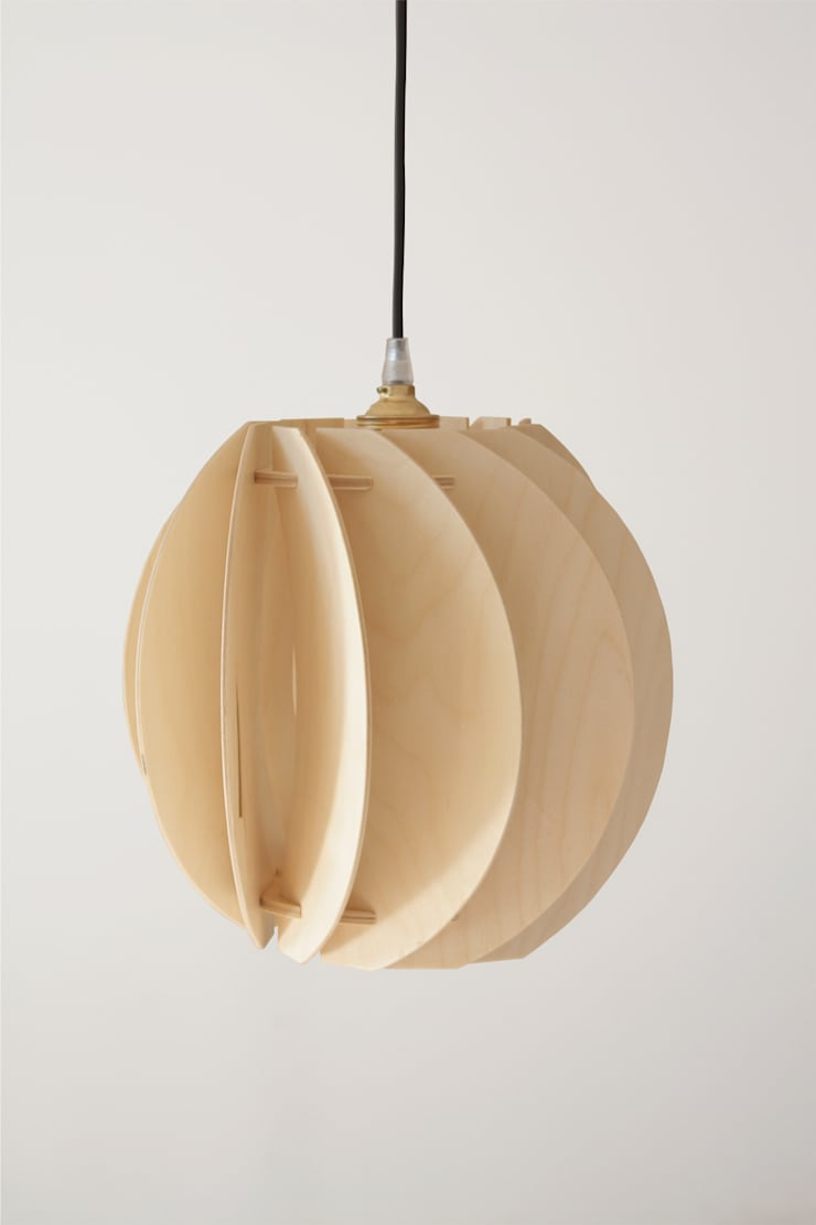 drewniana lampa Papoula : styl , w kategorii Pokój dziecięcy zaprojektowany przez SEAN