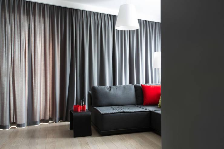 Mieszkanie na Gocławiu: styl , w kategorii Salon zaprojektowany przez Jacek Tryc-wnętrza,Nowoczesny