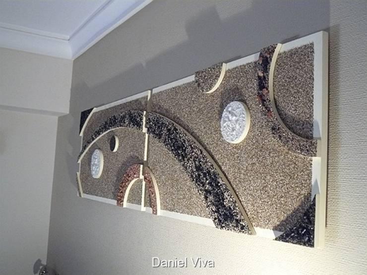 Murales minimalistas: Dormitorios de estilo  por Murales Daniel Viva