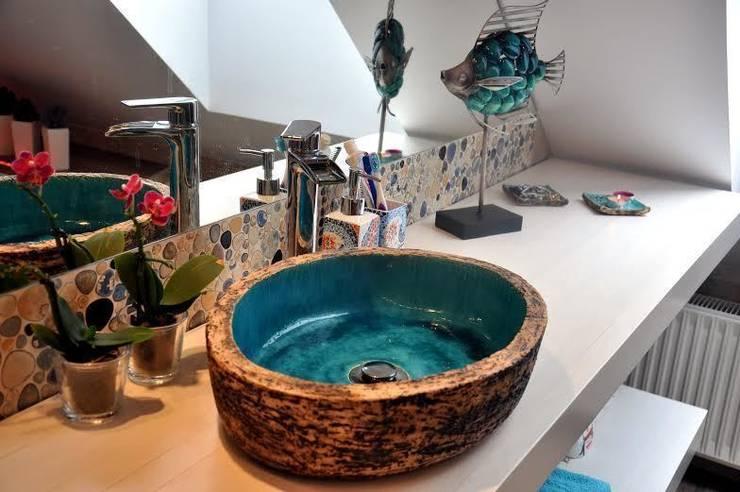 umywalka nablatowa: styl , w kategorii Łazienka zaprojektowany przez dekornia