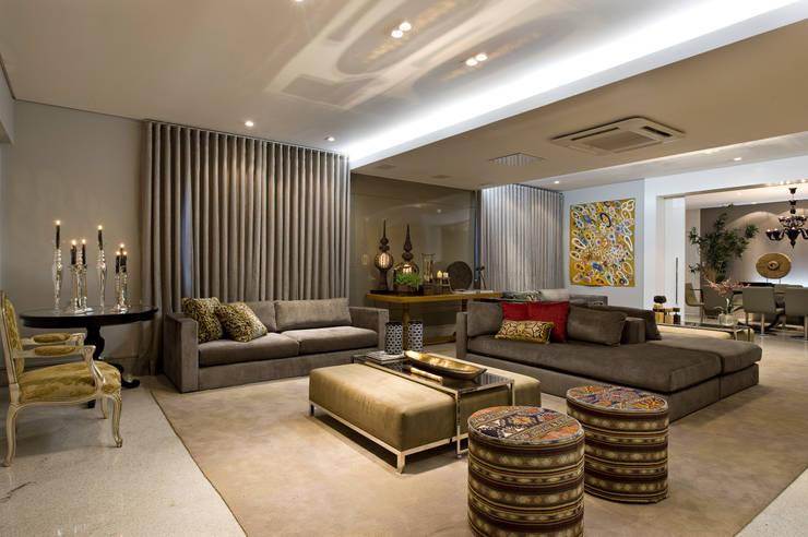 Residência AG Salas de estar modernas por Gláucia Britto Moderno