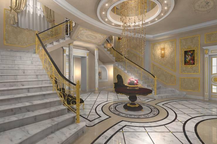 Villa Emirates: Ingresso & Corridoio in stile  di BenciDesign