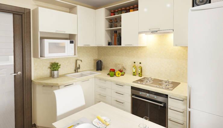 Частные жилые интерьеры.: Кухни в . Автор – Мария Суслова, дизайн интерьеров Самара