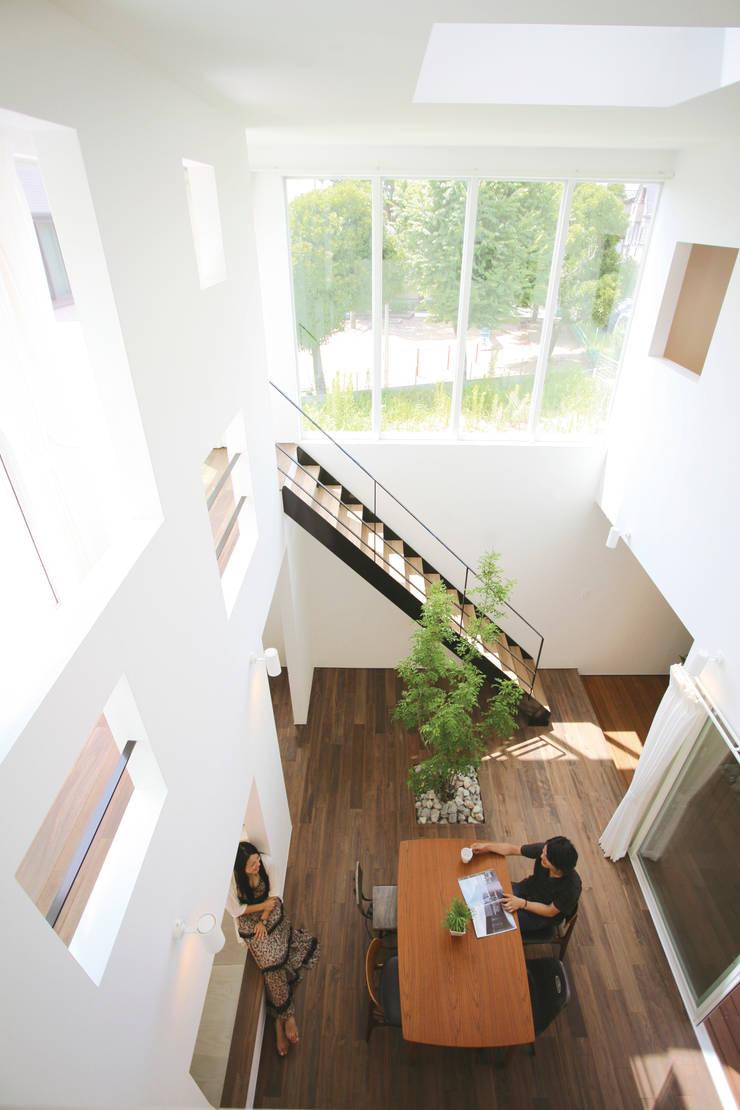 吹抜け: スターディ・スタイル一級建築士事務所が手掛けたダイニングです。