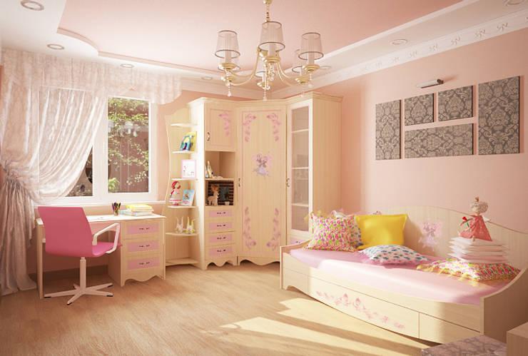 пример визуализации интерьера детской комнаты:  в . Автор – Мария Суслова, дизайн интерьеров Самара,