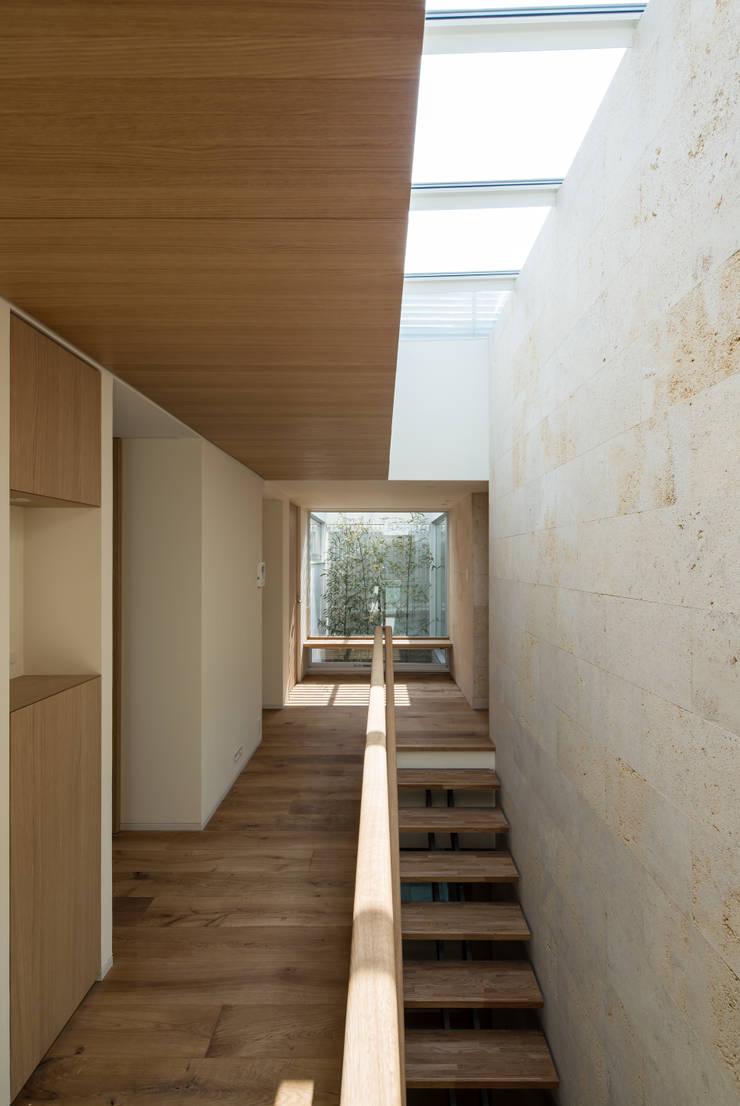 甲子園の家: Abax Architectsが手掛けた廊下 & 玄関です。