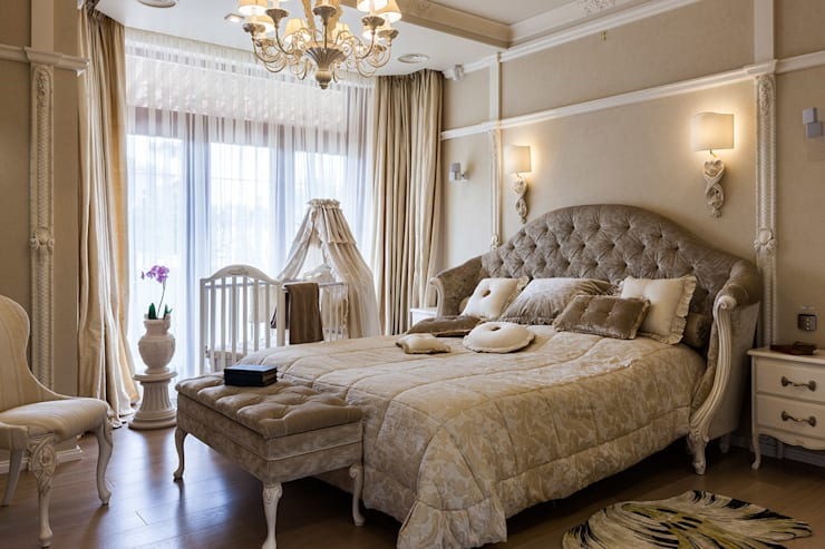 Спальня : Спальни в . Автор – Интерьеры от Марии Абрамовой