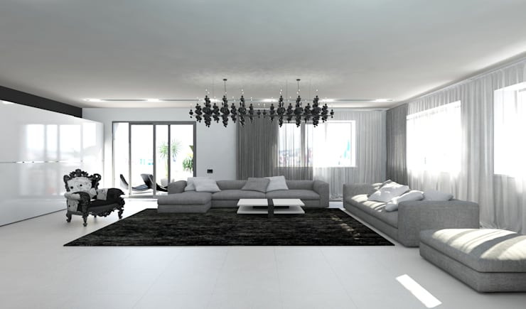 Living room by Гурьянова Наталья, Minimalist