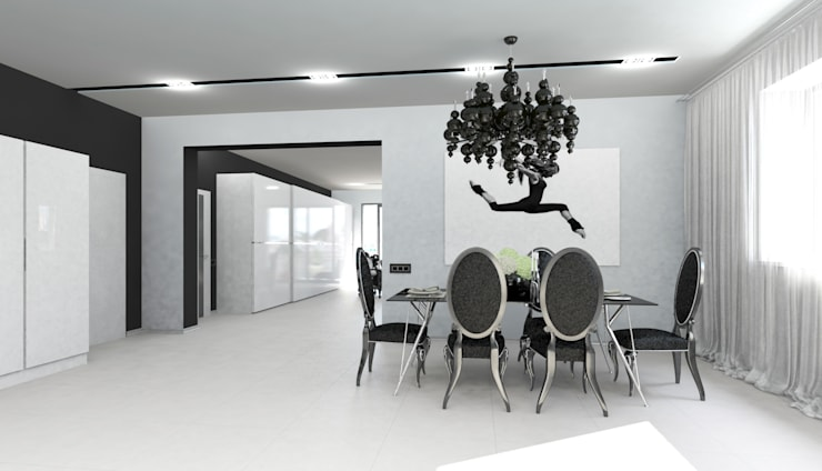 Dining room by Гурьянова Наталья, Minimalist